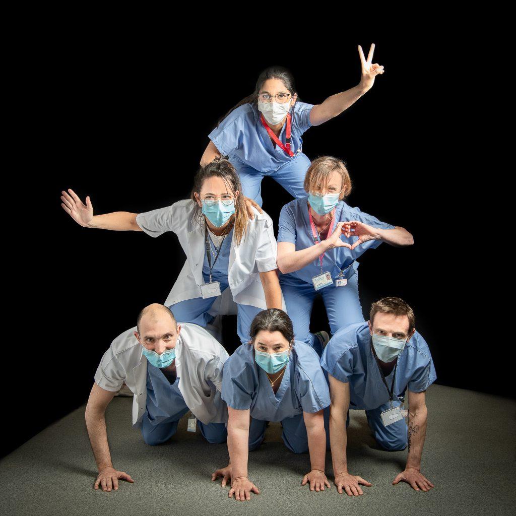 Pyramide de soignants - studio photo Covid 19