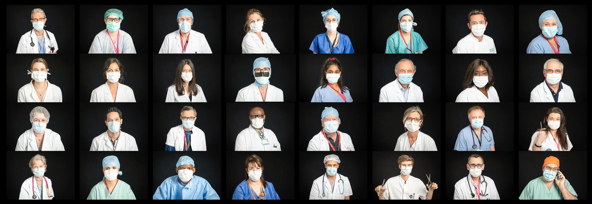 Portraits de soignants - Covid 19
