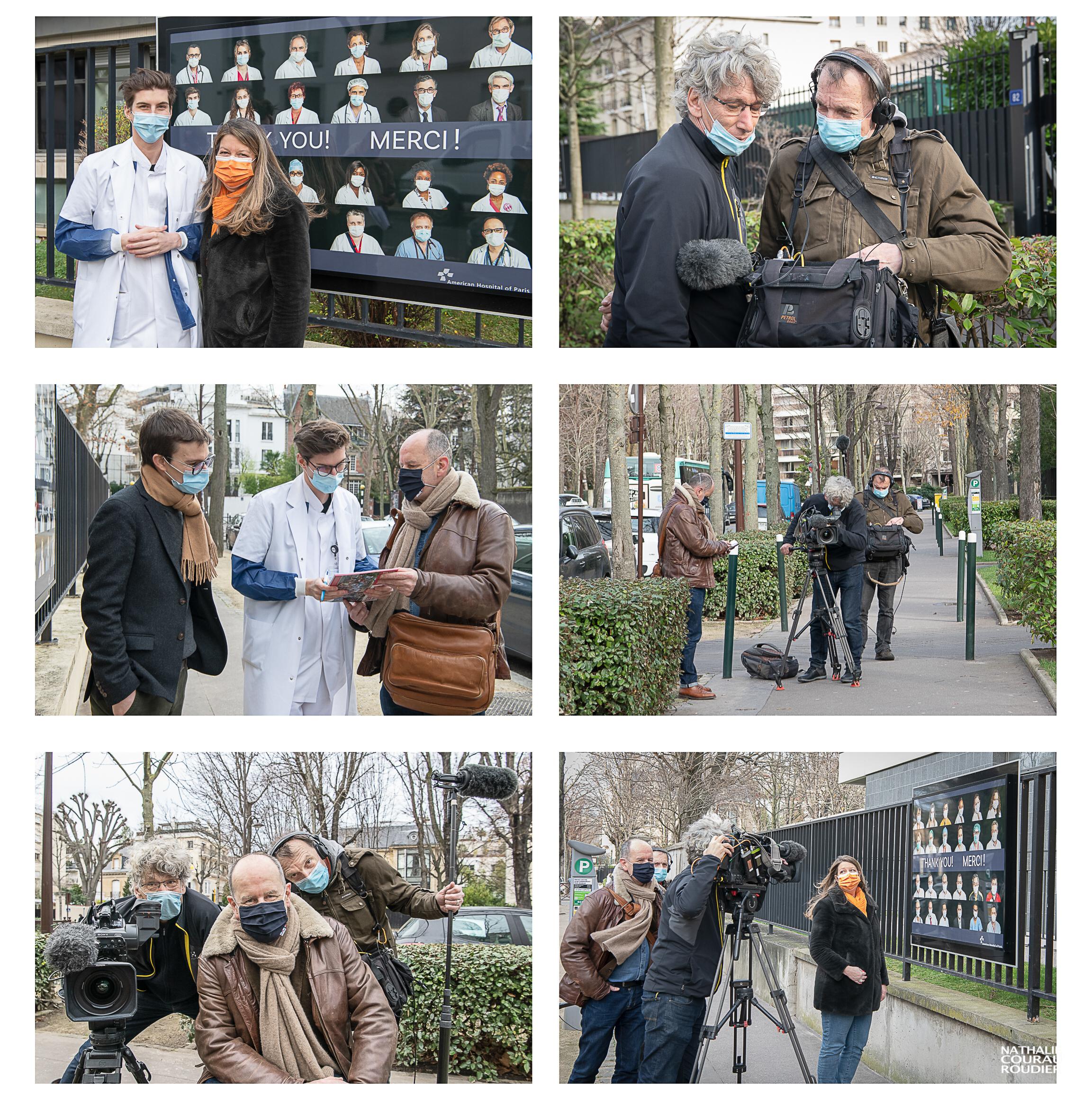 Photos du tournage du reportage